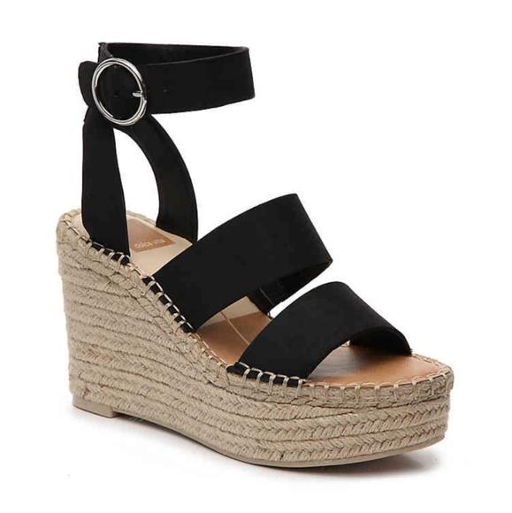 ca3a3a04ab1c Dolce Vita Shoes - Dolce Vita Shae Espadrille Wedge Sandal Black